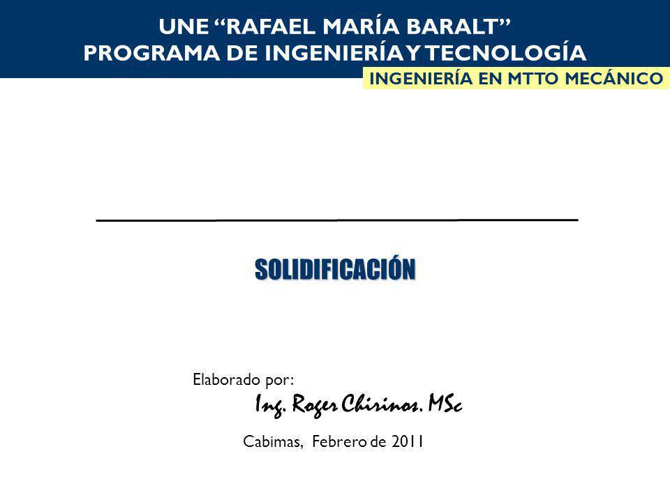 UNE RAFAEL MARÍA BARALT PROGRAMA DE INGENIERÍA Y TECNOLOGÍA