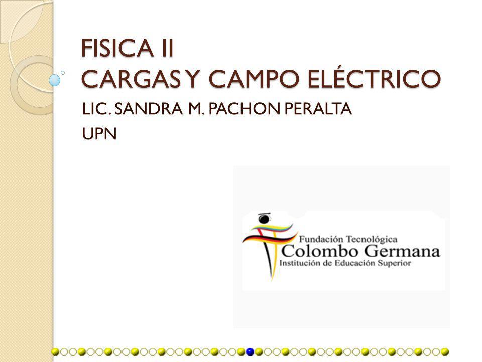 FISICA II CARGAS Y CAMPO ELÉCTRICO
