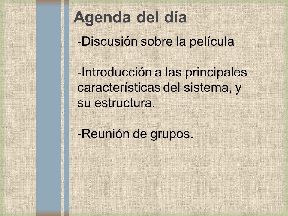 Agenda del día -Discusión sobre la película