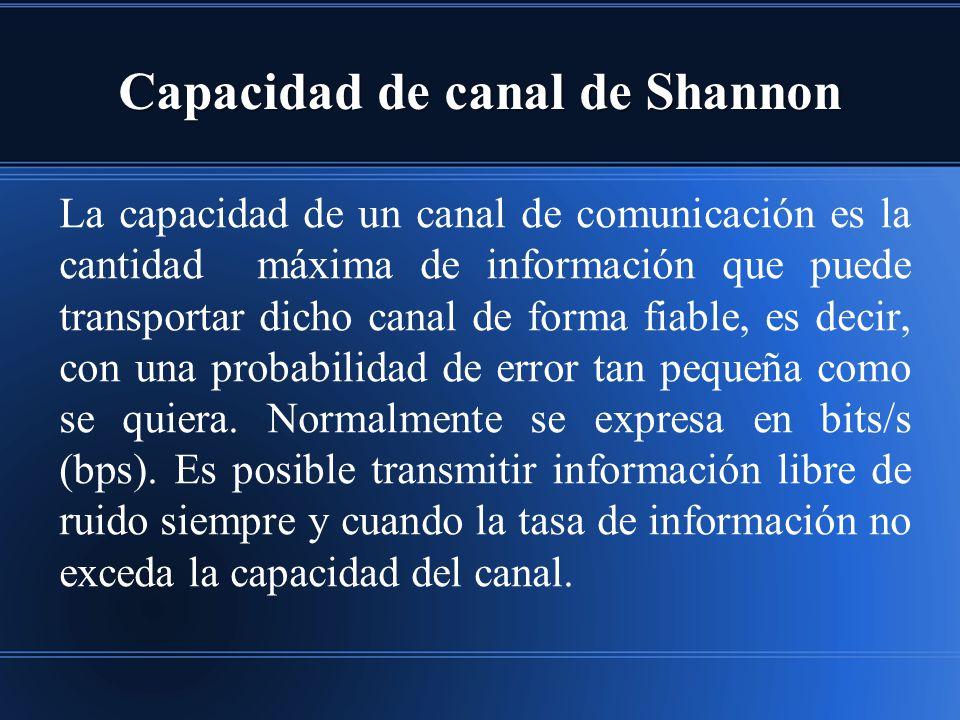 Capacidad de canal de Shannon