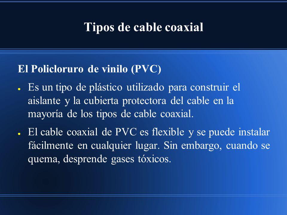 Tipos de cable coaxial El Policloruro de vinilo (PVC)
