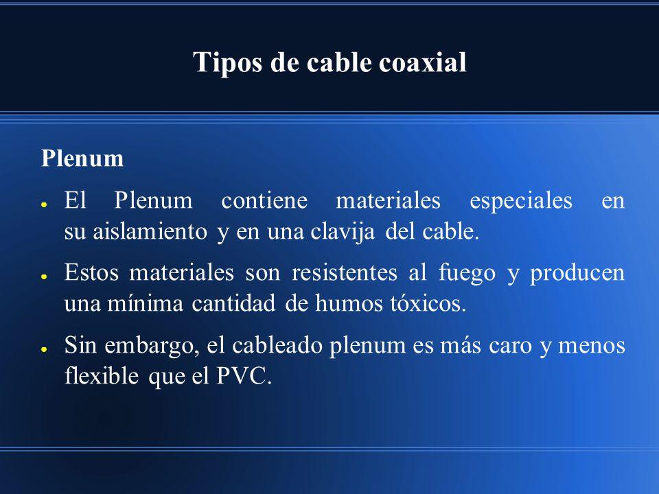 Tipos de cable coaxial Plenum