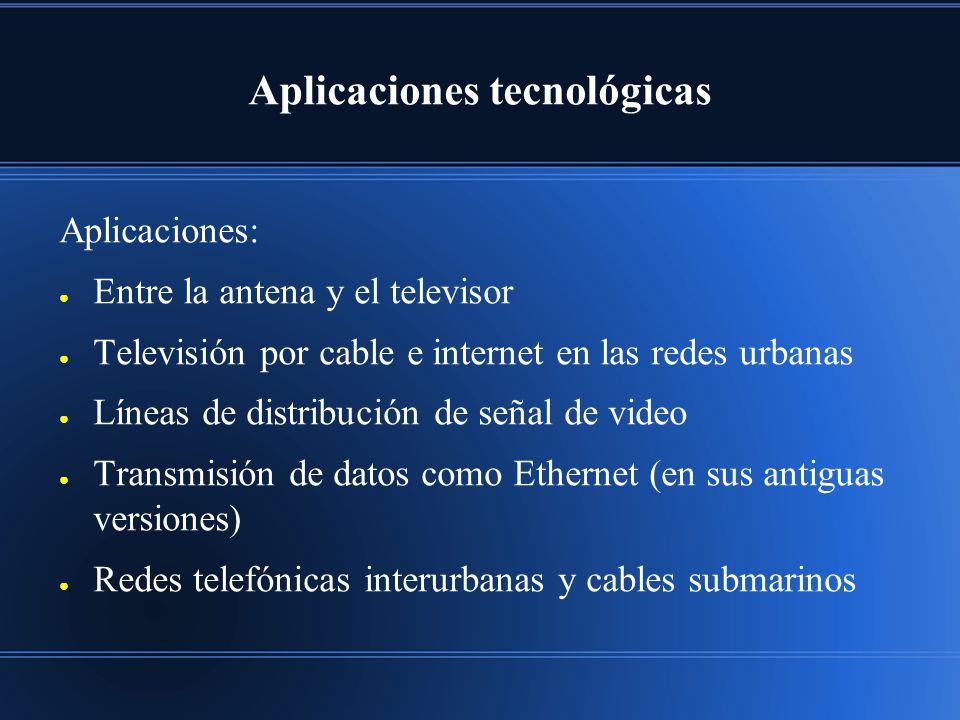 Aplicaciones tecnológicas