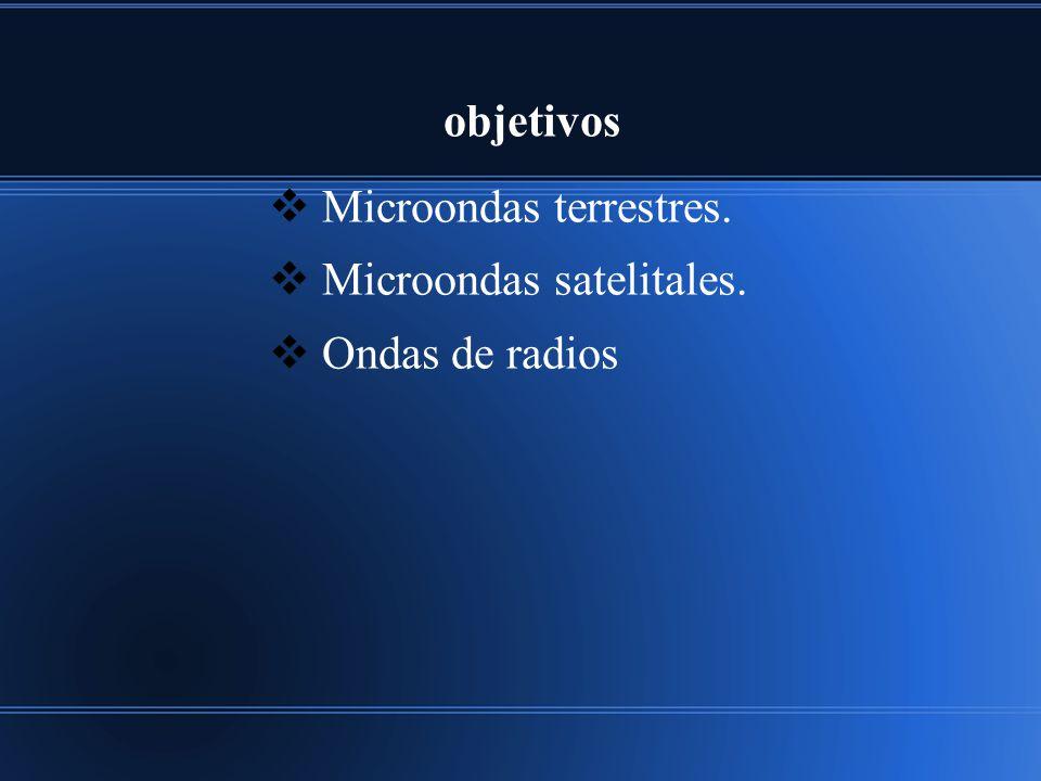 Microondas terrestres. Microondas satelitales. Ondas de radios