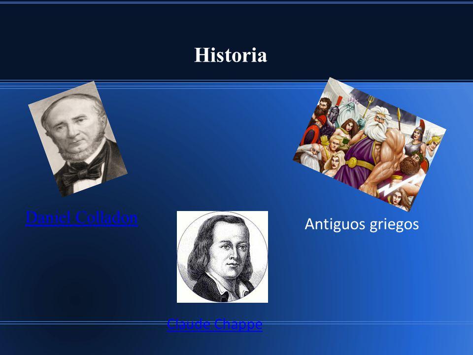 Historia Daniel Colladon Antiguos griegos Claude Chappe