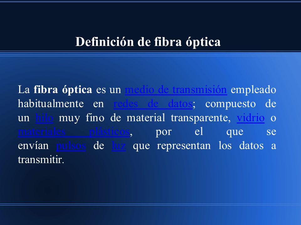 Definición de fibra óptica