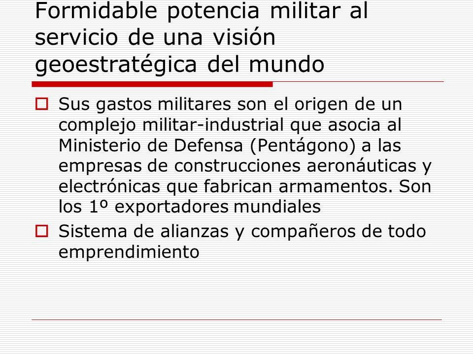 Formidable potencia militar al servicio de una visión geoestratégica del mundo