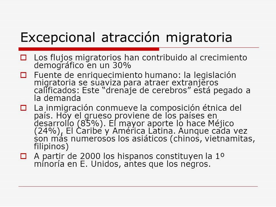 Excepcional atracción migratoria