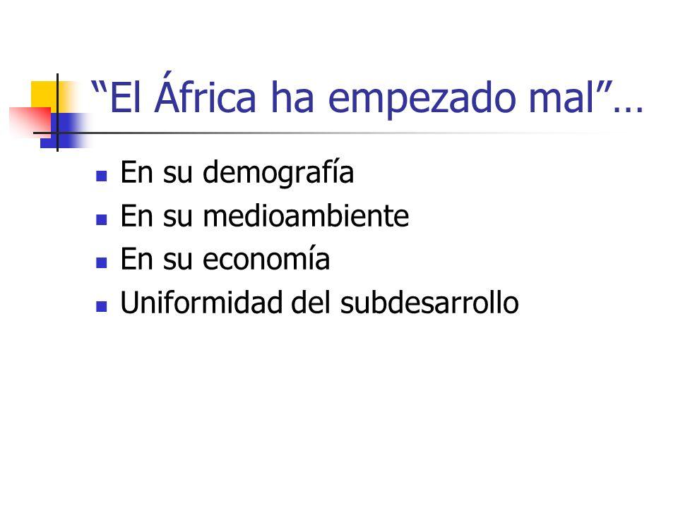 El África ha empezado mal …