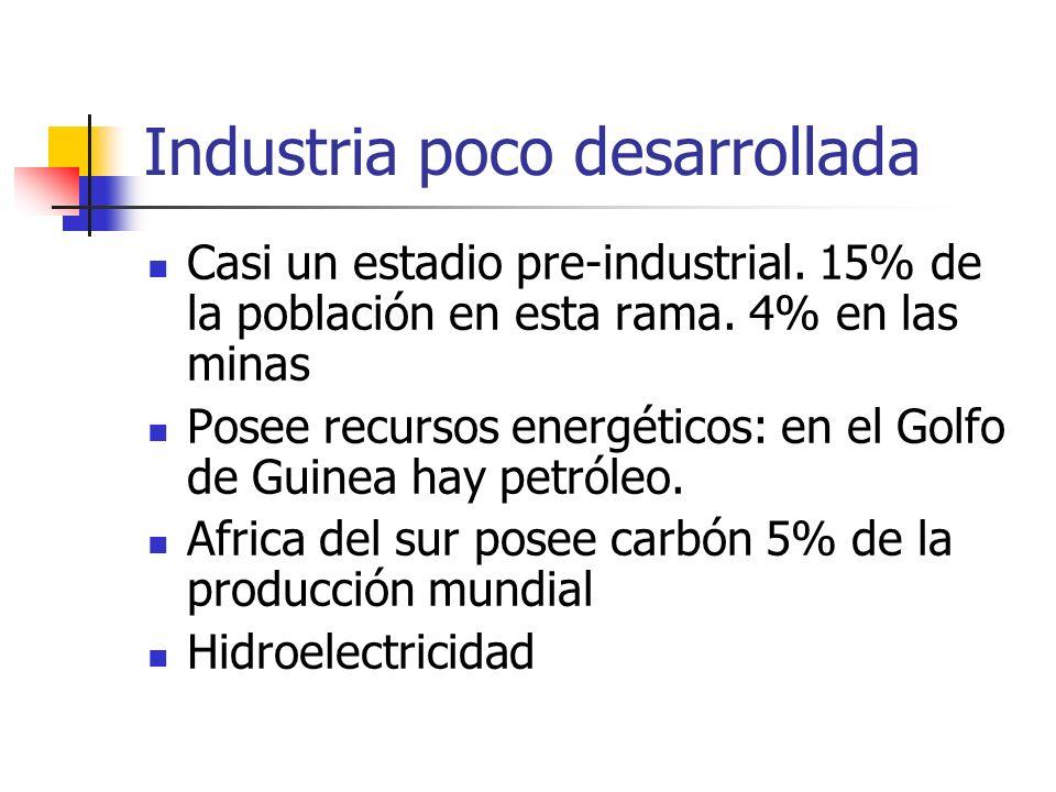Industria poco desarrollada