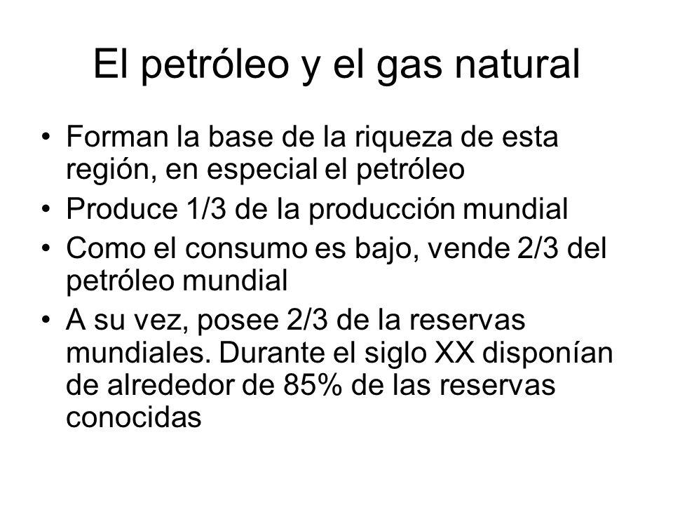 El petróleo y el gas natural