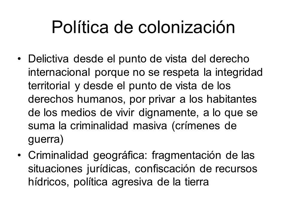 Política de colonización