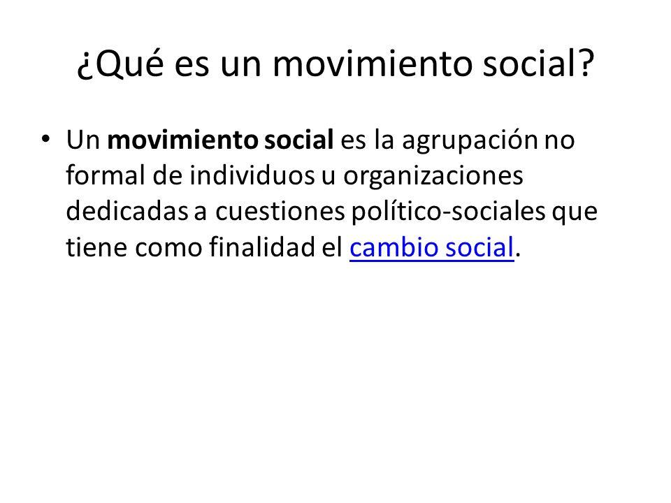 ¿Qué es un movimiento social