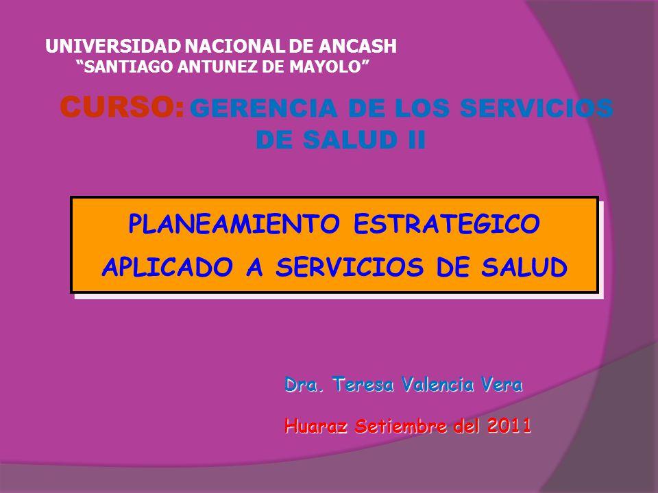 CURSO: GERENCIA DE LOS SERVICIOS