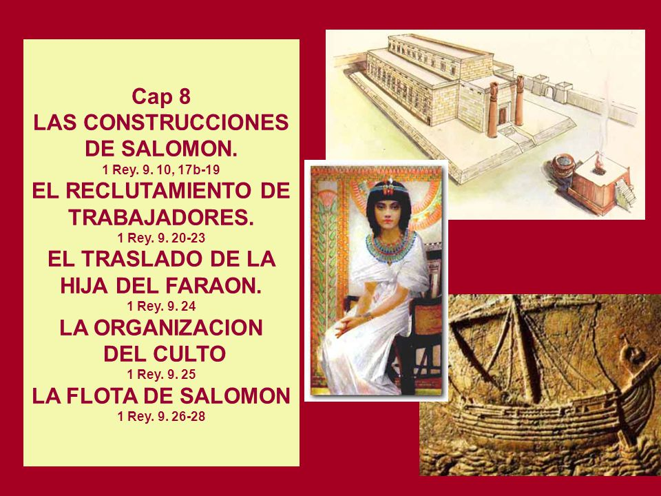 DEL CULTO 1 Rey. 9. 25 LA FLOTA DE SALOMON 1 Rey. 9. 26-28