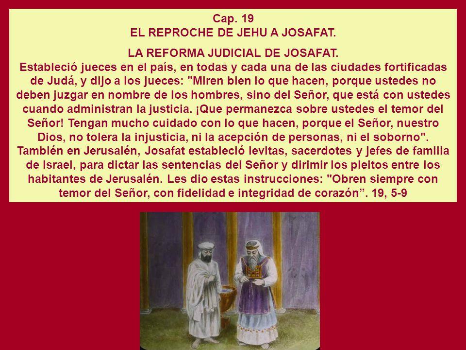 EL REPROCHE DE JEHU A JOSAFAT.