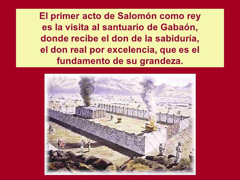 El primer acto de Salomón como rey