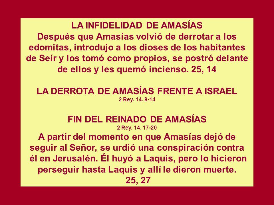 LA DERROTA DE AMASÍAS FRENTE A ISRAEL 2 Rey. 14. 8-14