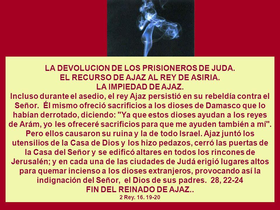 LA DEVOLUCION DE LOS PRISIONEROS DE JUDA.