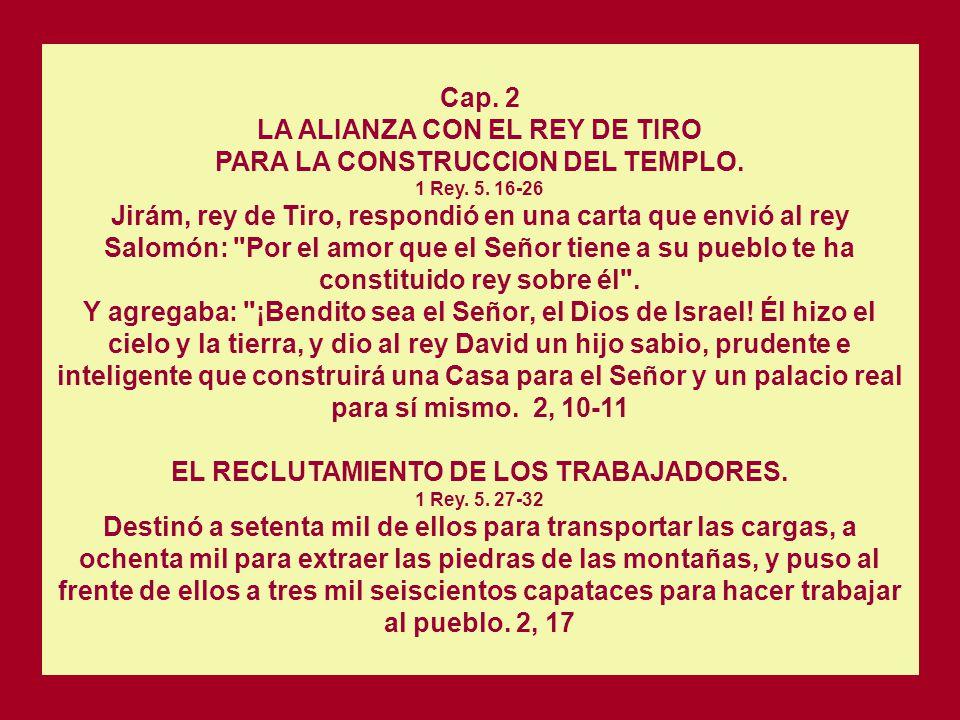 LA ALIANZA CON EL REY DE TIRO