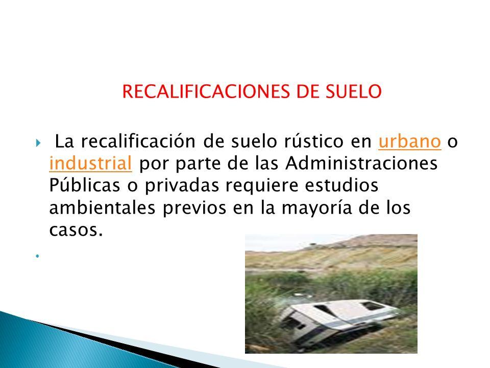 RECALIFICACIONES DE SUELO
