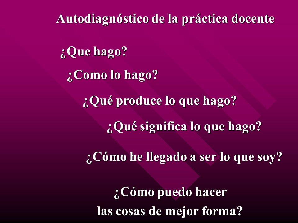Autodiagnóstico de la práctica docente