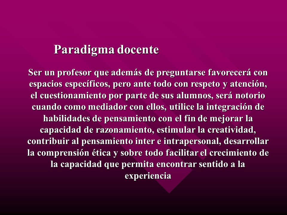 Paradigma docente