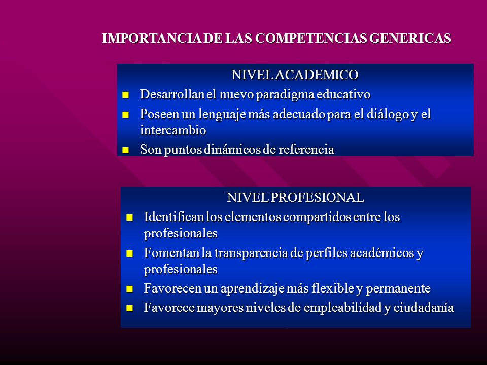 IMPORTANCIA DE LAS COMPETENCIAS GENERICAS