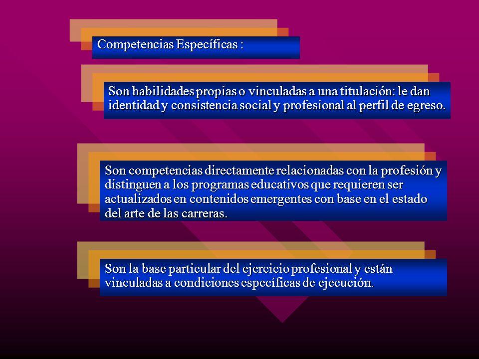 Competencias Específicas :