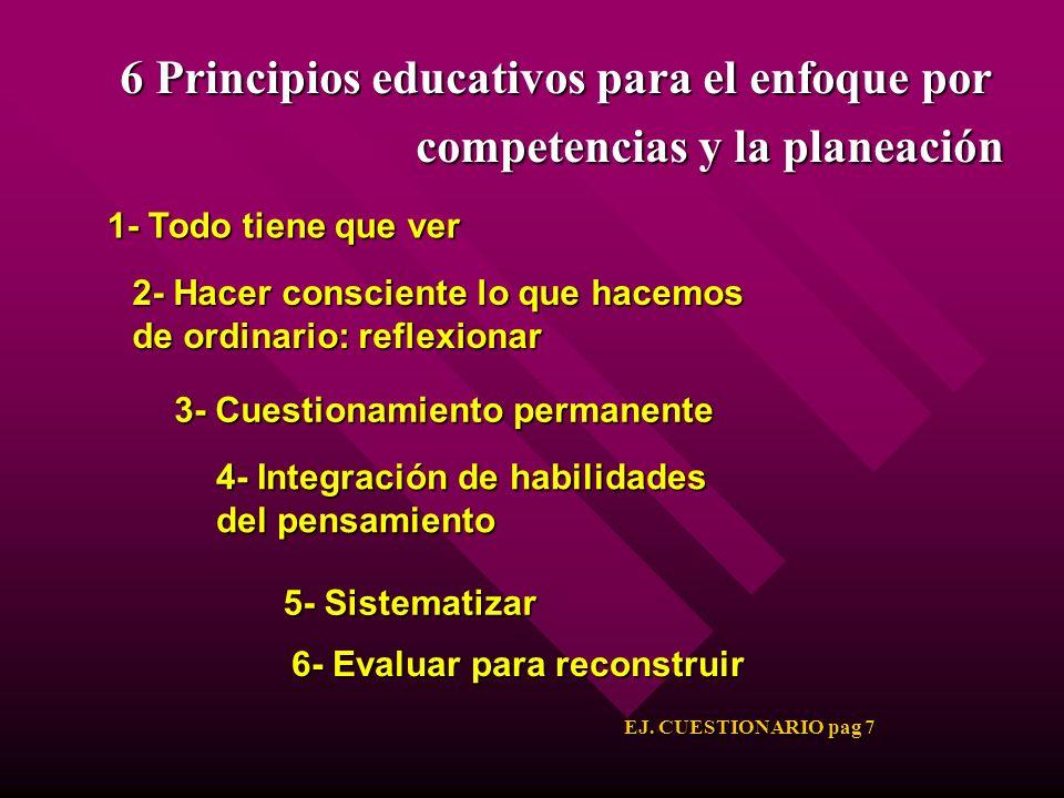 6 Principios educativos para el enfoque por