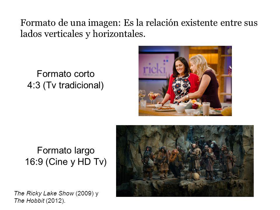 Formato de una imagen: Es la relación existente entre sus lados verticales y horizontales.