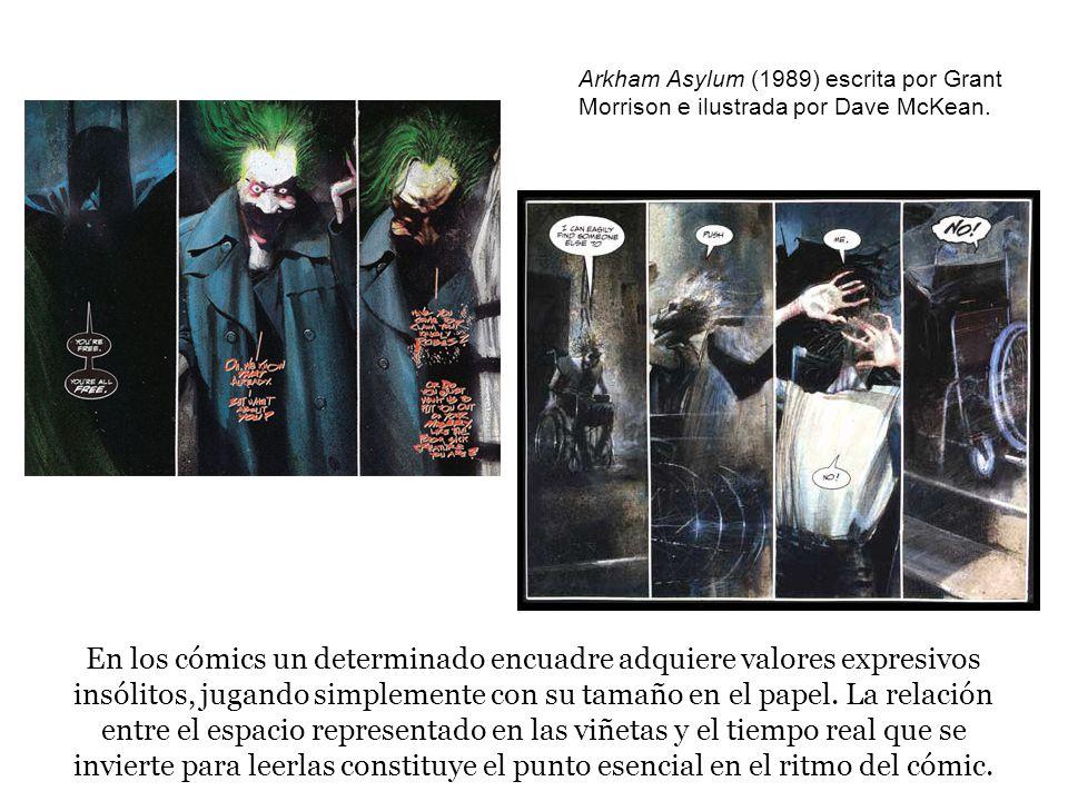 Arkham Asylum (1989) escrita por Grant Morrison e ilustrada por Dave McKean.
