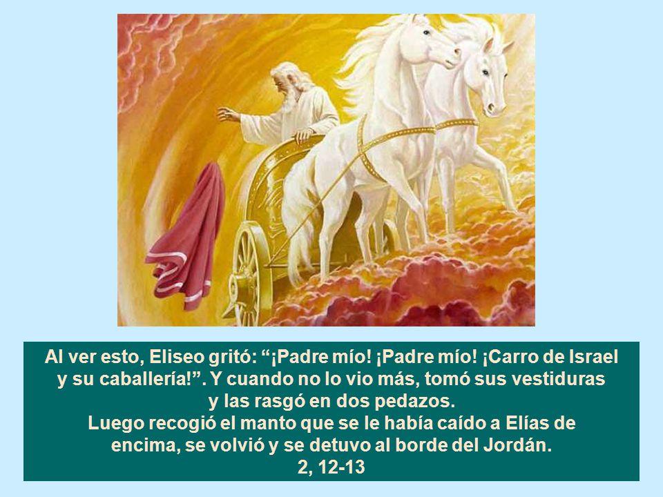 Al ver esto, Eliseo gritó: ¡Padre mío! ¡Padre mío! ¡Carro de Israel