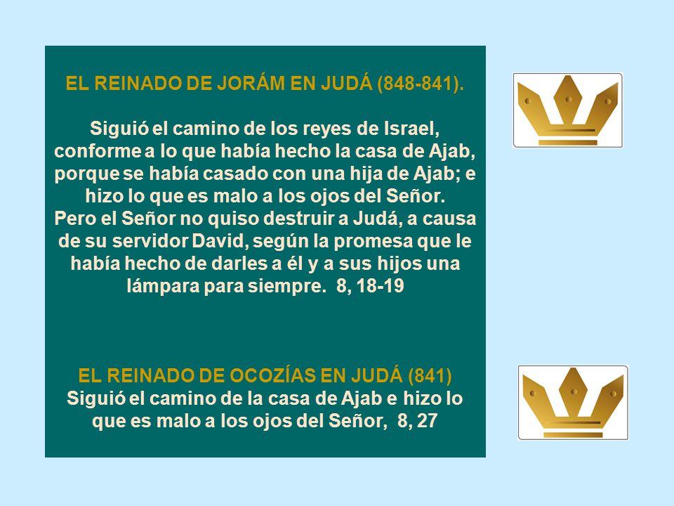 EL REINADO DE JORÁM EN JUDÁ (848-841).
