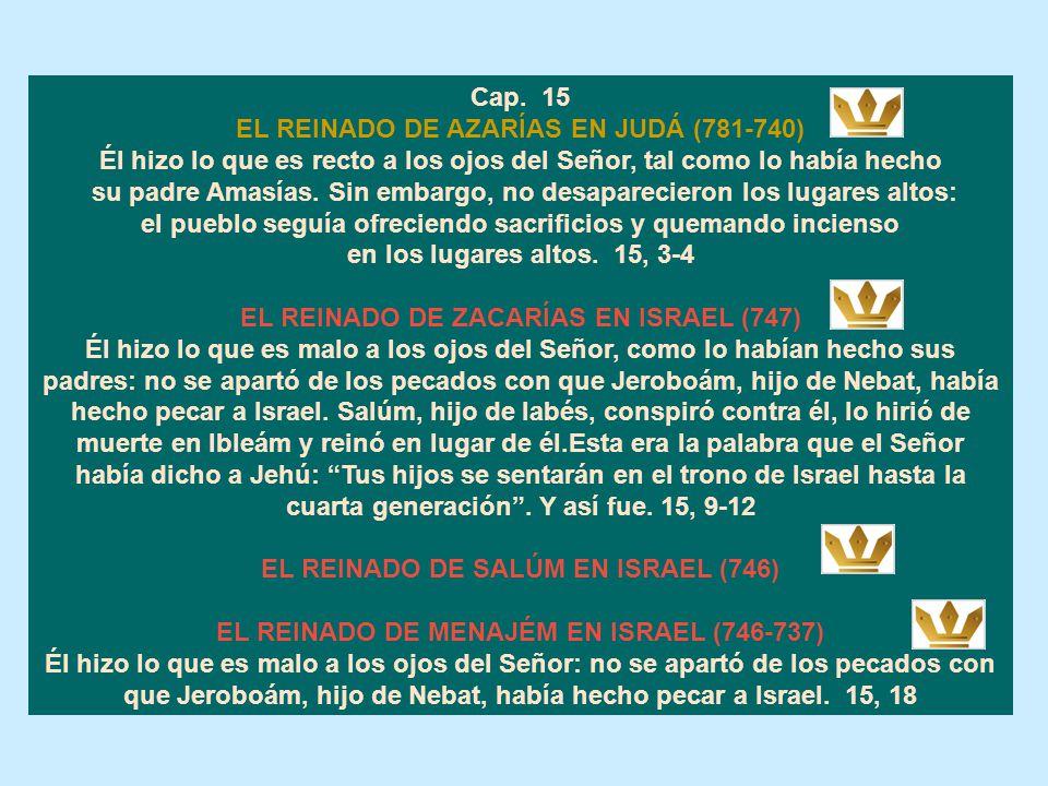 EL REINADO DE AZARÍAS EN JUDÁ (781-740)