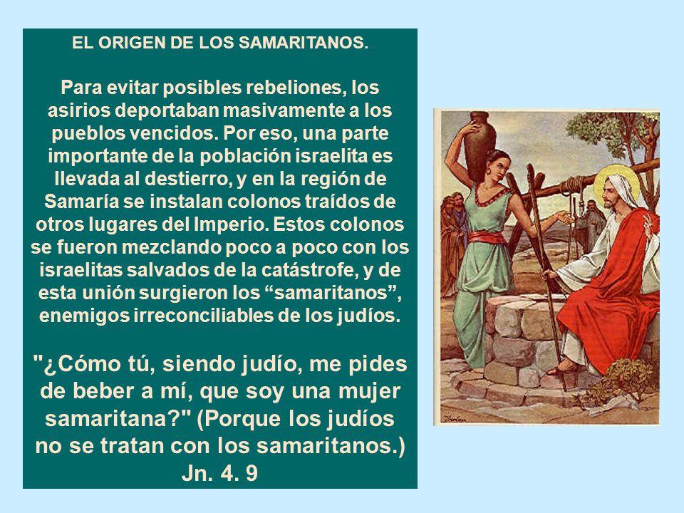 EL ORIGEN DE LOS SAMARITANOS.