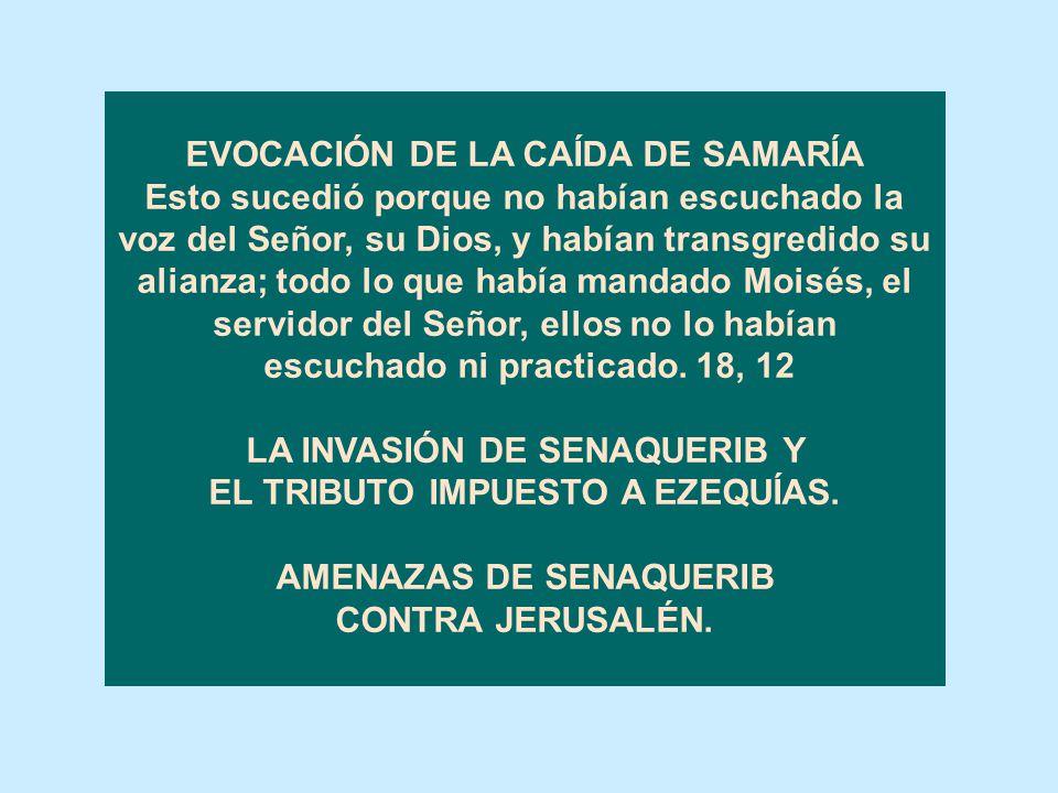 EVOCACIÓN DE LA CAÍDA DE SAMARÍA