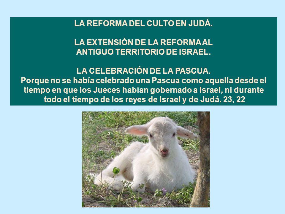 LA REFORMA DEL CULTO EN JUDÁ. LA EXTENSIÓN DE LA REFORMA AL