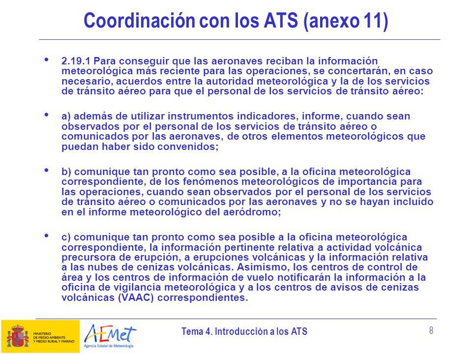 Coordinación con los ATS (anexo 11)
