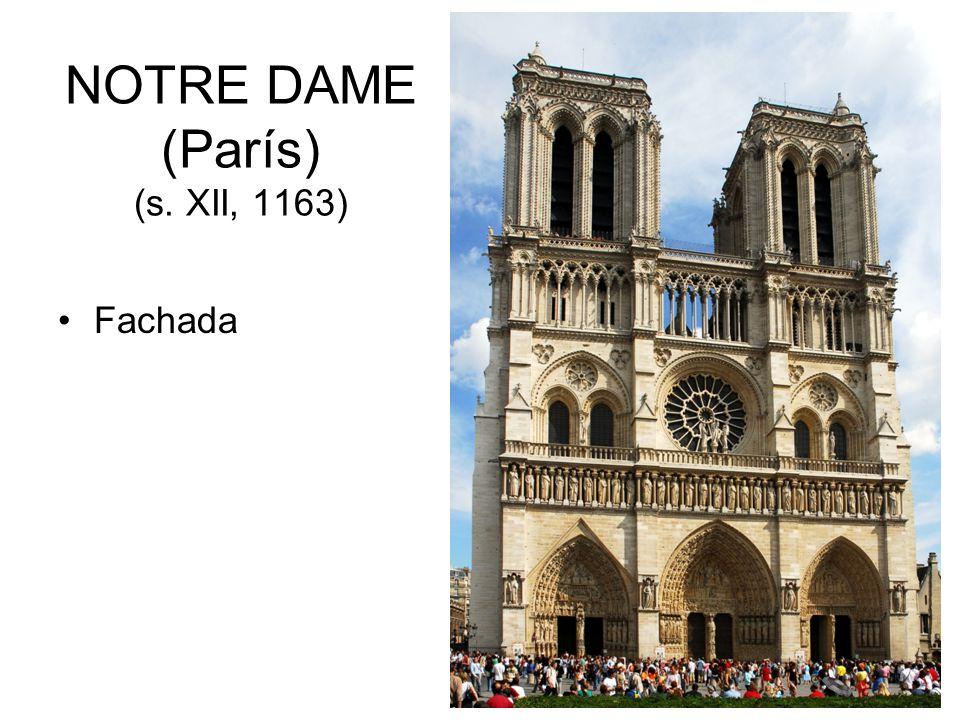 NOTRE DAME (París) (s. XII, 1163)