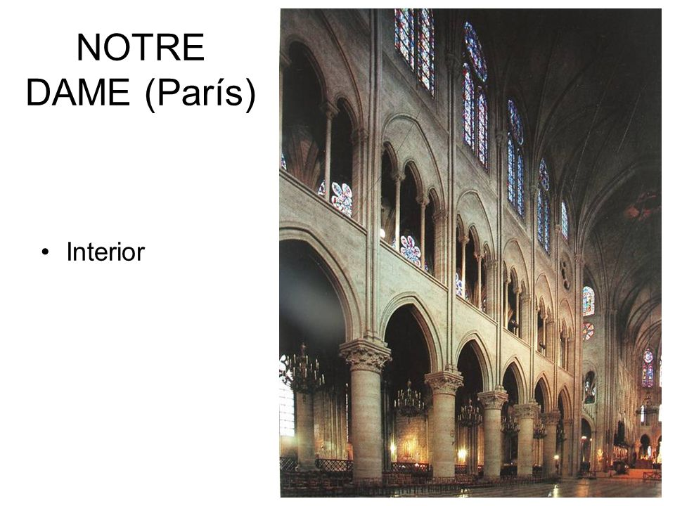 NOTRE DAME (París) Interior