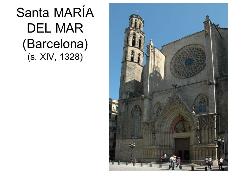 Santa MARÍA DEL MAR (Barcelona) (s. XIV, 1328)