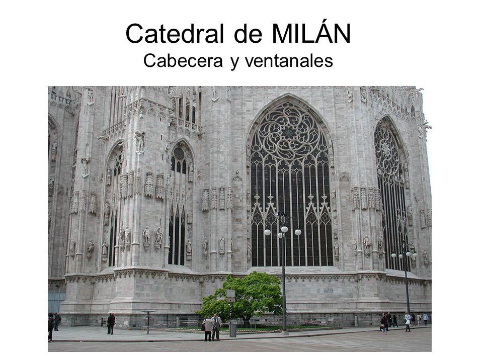 Catedral de MILÁN Cabecera y ventanales