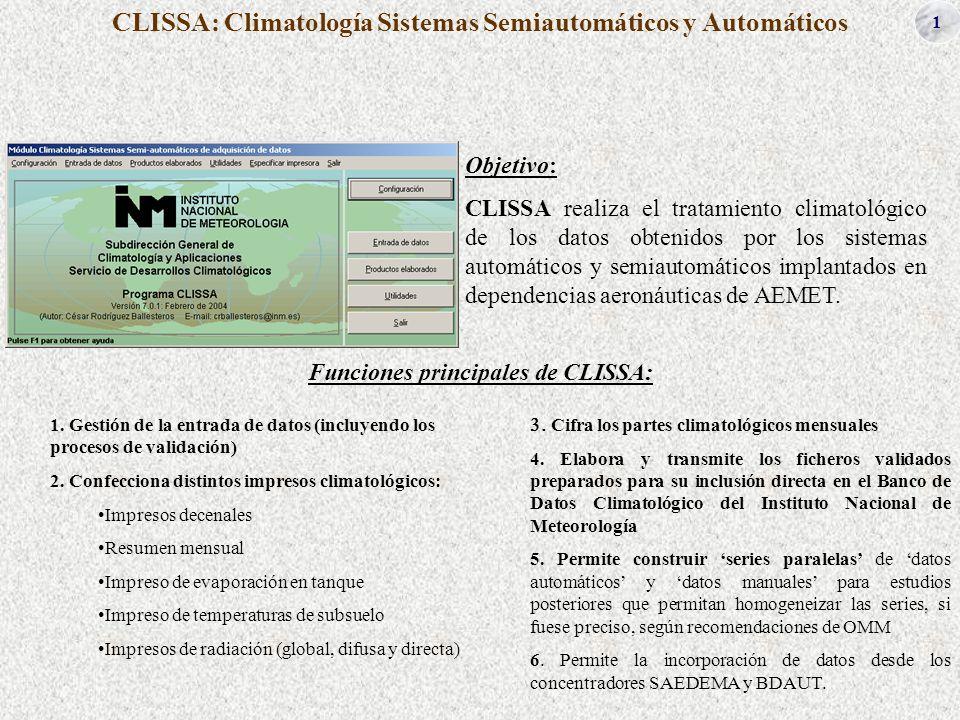 CLISSA: Climatología Sistemas Semiautomáticos y Automáticos