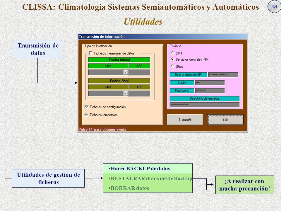 Utilidades CLISSA: Climatología Sistemas Semiautomáticos y Automáticos