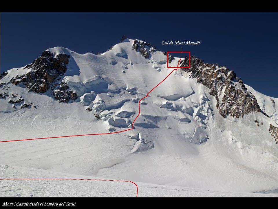 Col de Mont Maudit Mont Maudit desde el hombro del Tacul