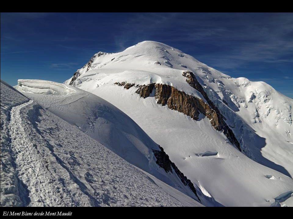 El Mont Blanc desde Mont Maudit