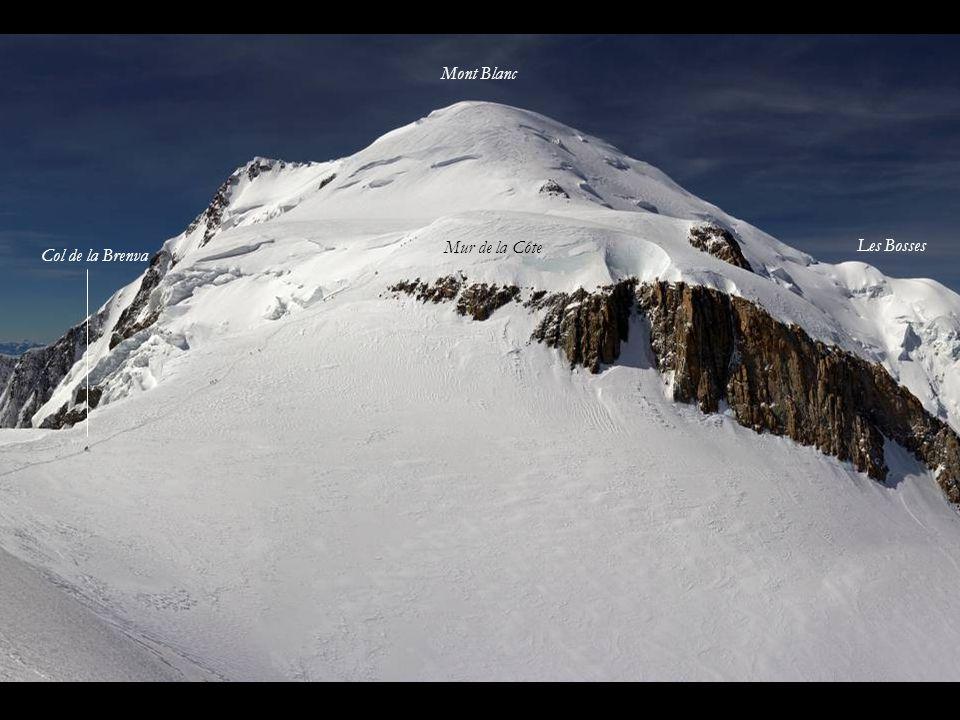 Mont Blanc Mur de la Côte Les Bosses Col de la Brenva