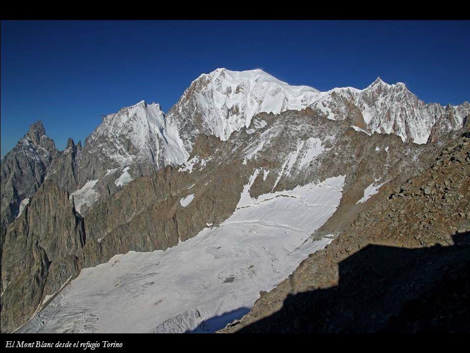 El Mont Blanc desde el refugio Torino