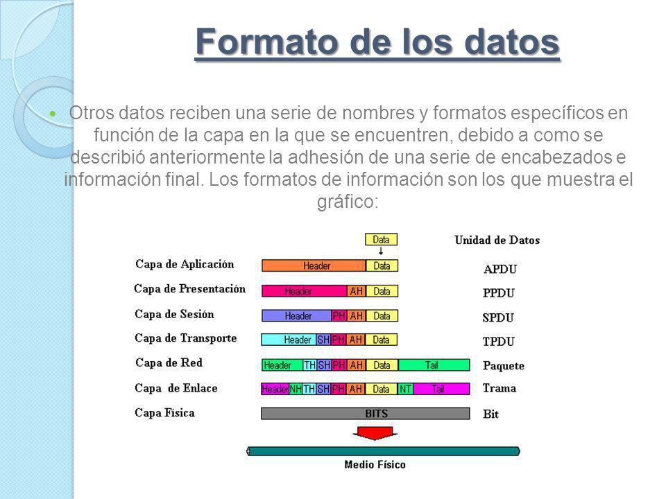 Formato de los datos